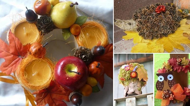 dekorāciju idejas rudens