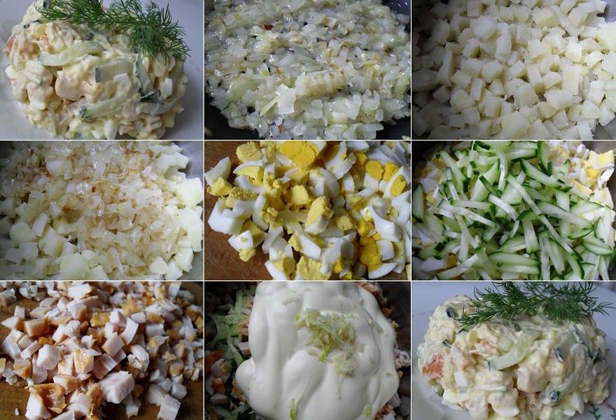kūpinātas vistas salāti