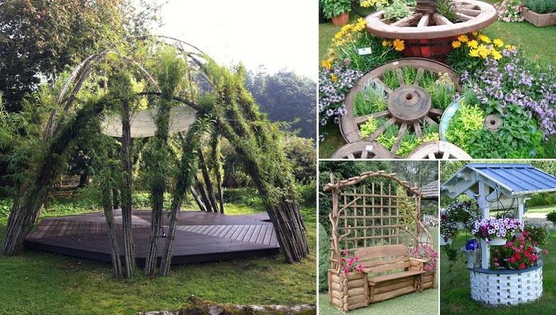 idejas dārzi mājas