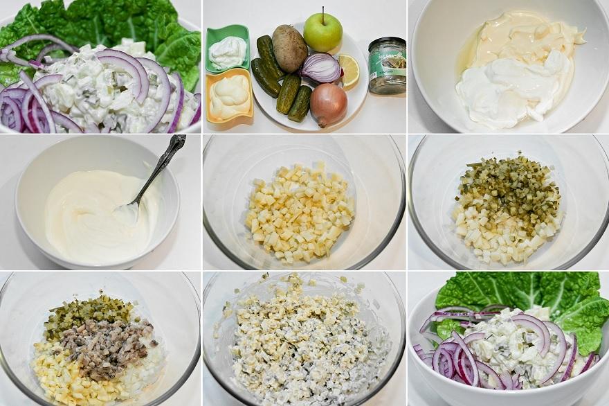 salāti ar marinētu siļķī