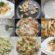 Salāti ar kāpostiem , siera sacepumu un vistas gaļu